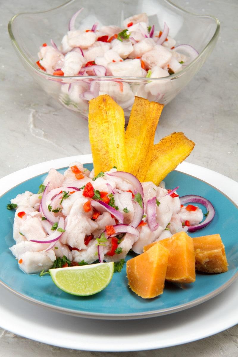 Delicious Authentic Peruvian Fish Ceviche