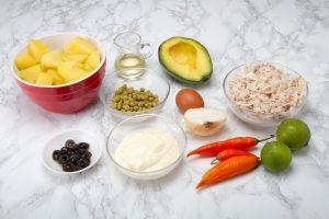 Ingredients For Peruvian Causa Rellena De Pollo