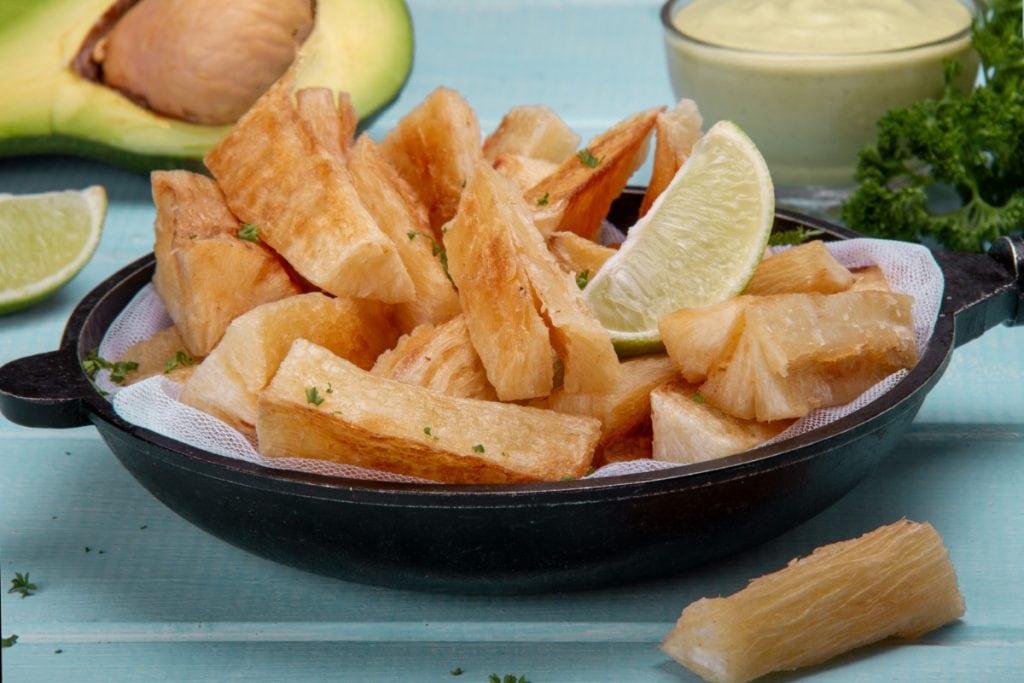 Peruvian Fried Yuca Dish