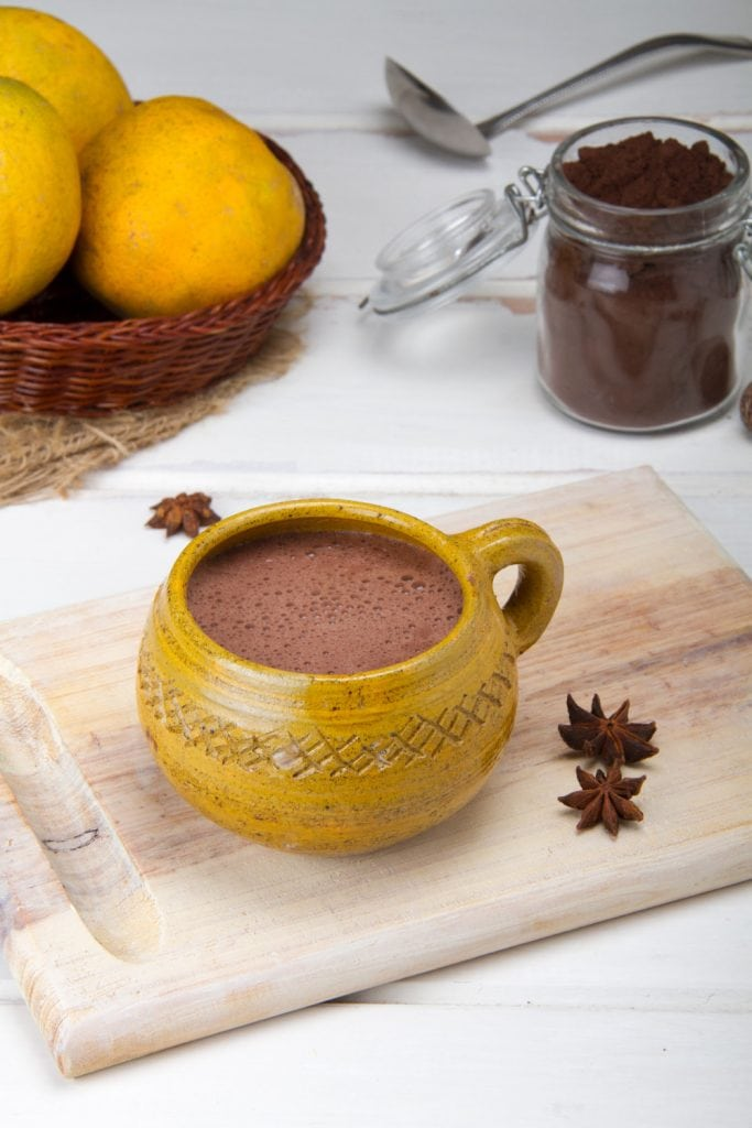 Peruvian Hot Chocolate In Cup With Spices