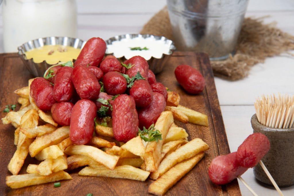 Peruvian Salchipapa French Fries Hot Dog Street Food