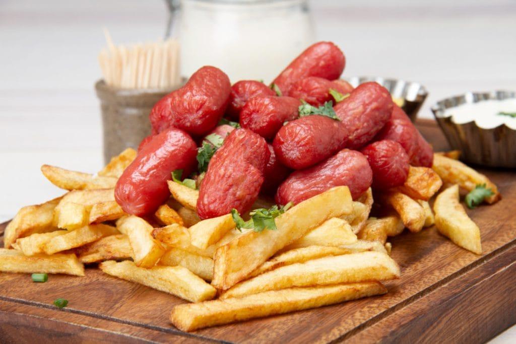 Salchipapa Fries Hot Dogs