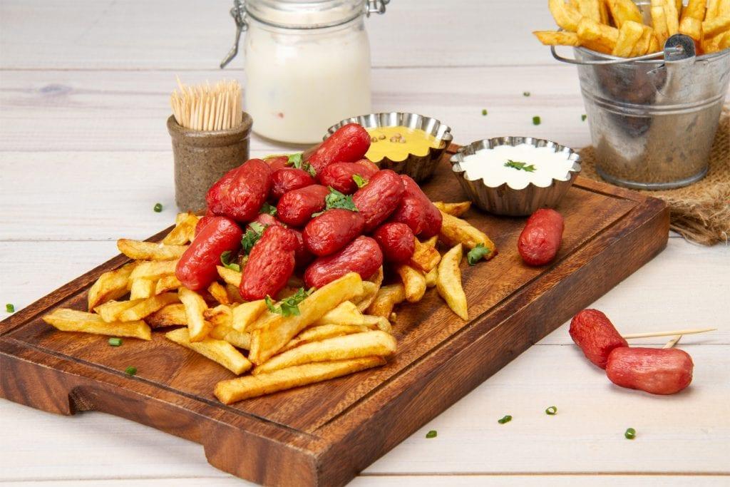 Peruvian Salchipapas Hot Dog Fries Fast Food