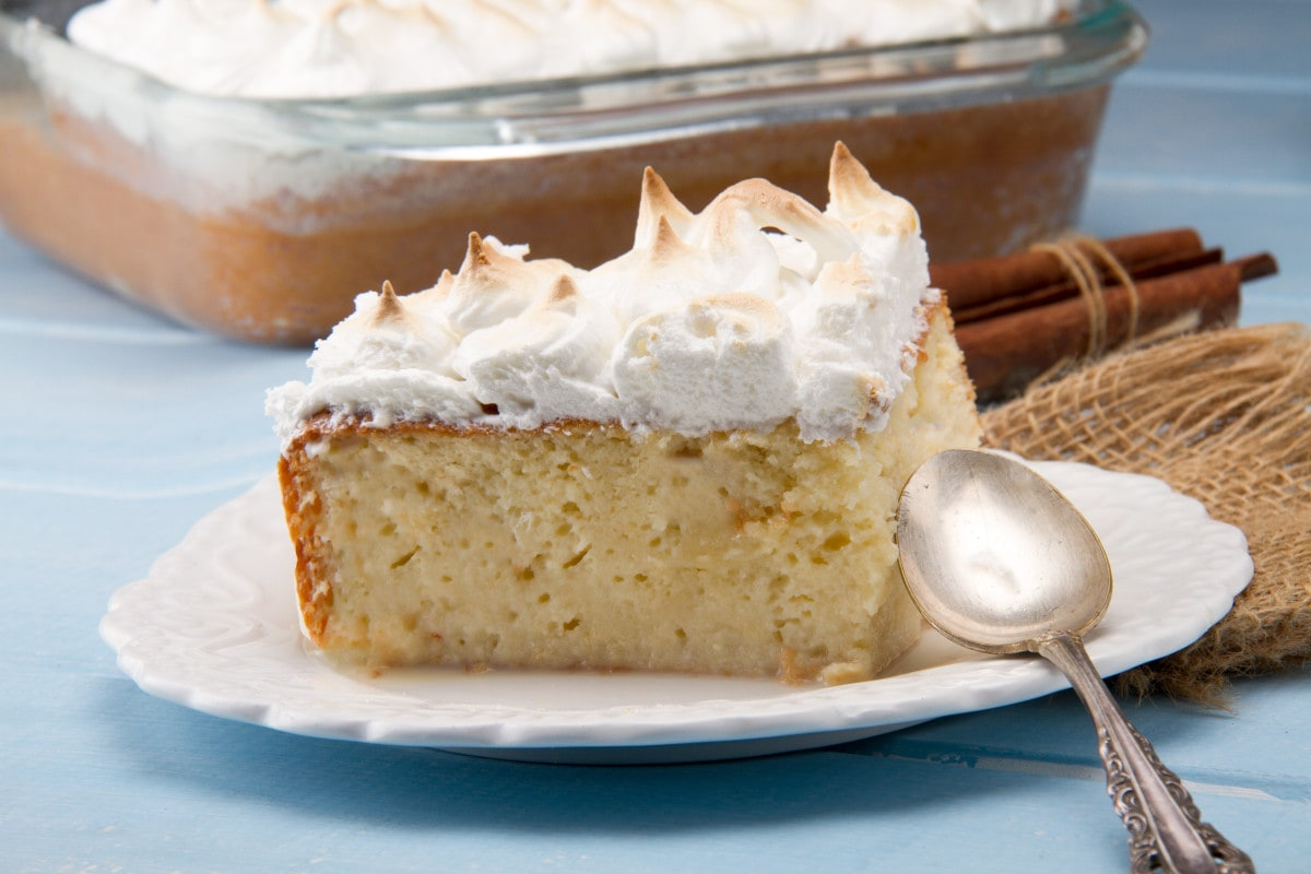 Tres Leches Peru - Delicious sponge cake soaked with whipped cream and egg meringue