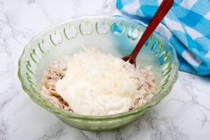 Step 11 Add Mayonnaise To Shredded Chicken