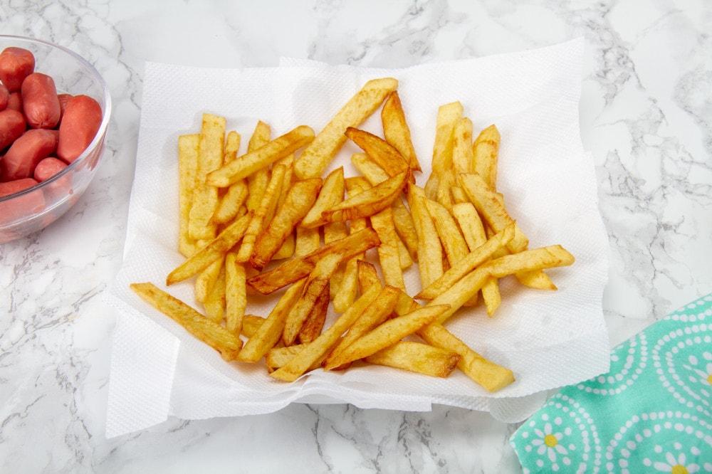 Step 5 Remove And Drain Potato Fries