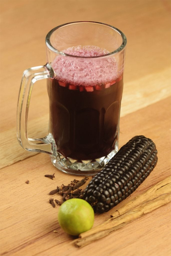 Peruvian Chicha Morada With Corn And Lime