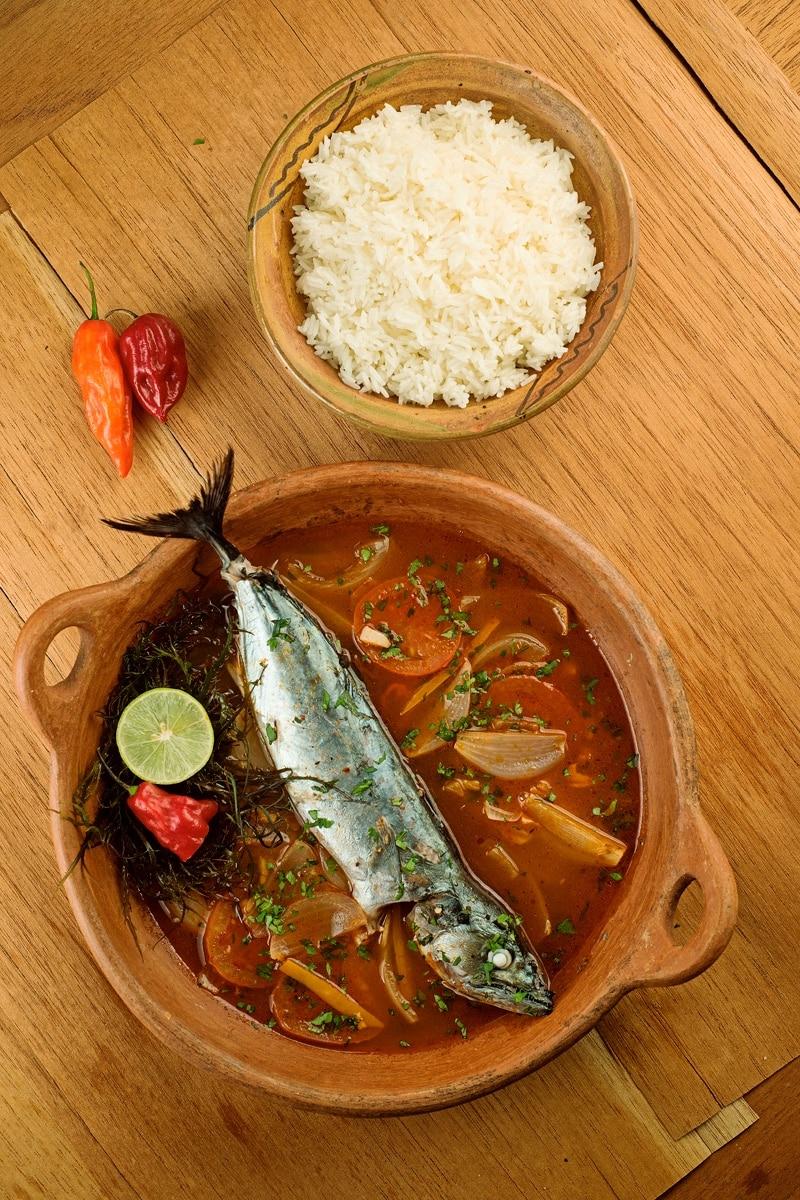 Delicious Peruvian Steamed Fish Dish