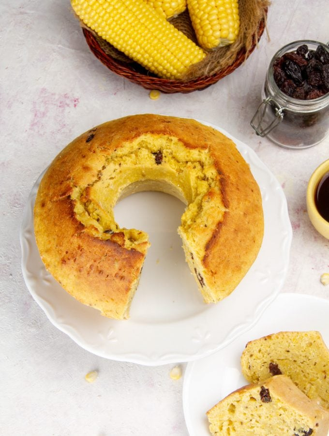 Peruvian Pastel De Choclo On Table With Coffee
