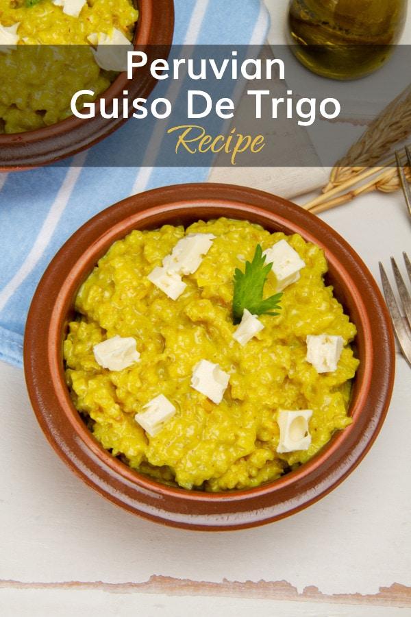 Recipe For Guiso De Trigo Stew From Peru