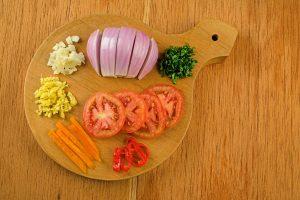 Step 2 Chopped Onion Garlic Aji Chili Pepper
