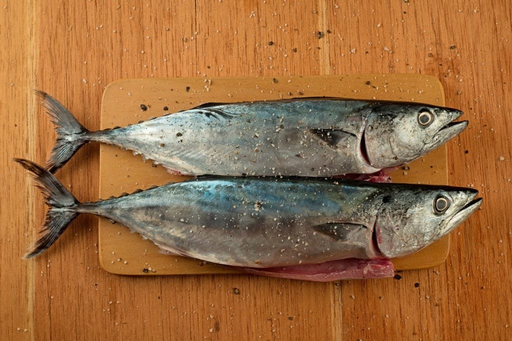 Step 3 Bonito Marinated In Salt And Pepper
