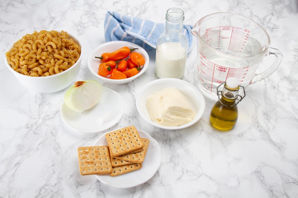 Huancaina Macaroni Ingredients