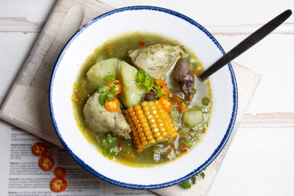 Aguadito De Pollo Peruvian Chicken Rice Soup
