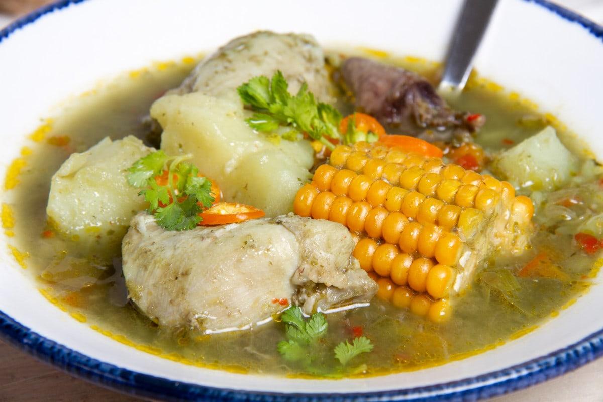 How To Make Aguadito De Pollo Green Soup