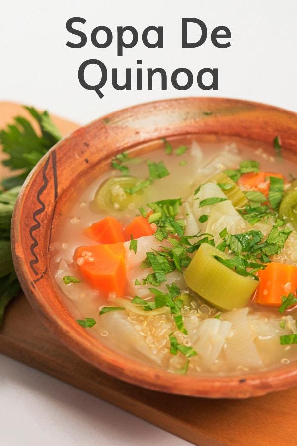 Sopa De Quinoa Recipe