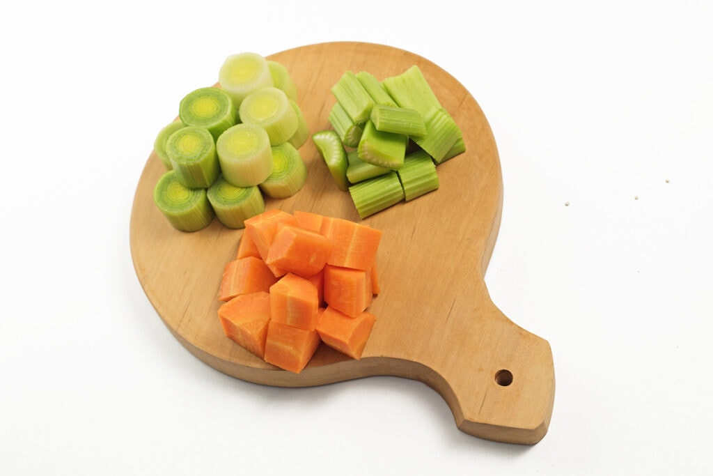 Step 1 Chop Carrot Leek Celery