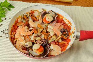 Step 4 Add Seafood To Pan