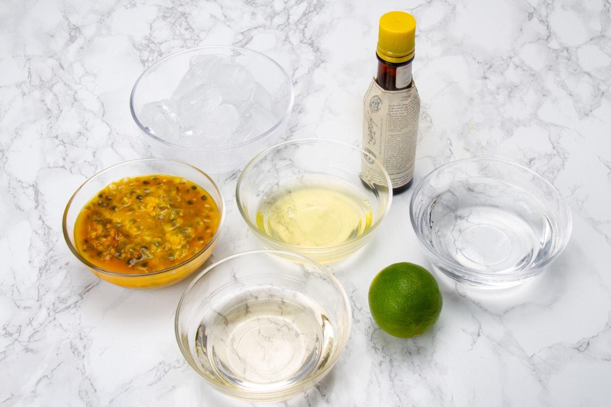 Ingredients For Maracuya Peruvian Pisco Sour
