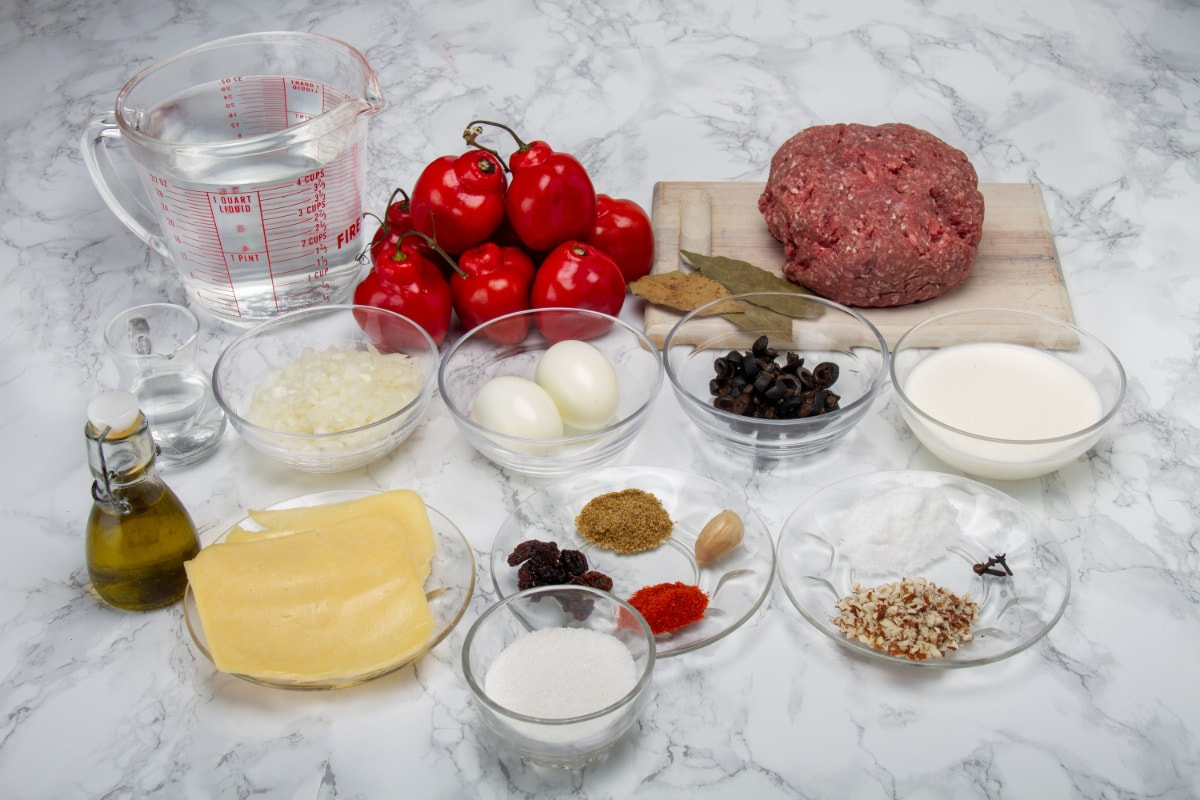Ingredients For Peruvian Stuffed Peppers Recipe