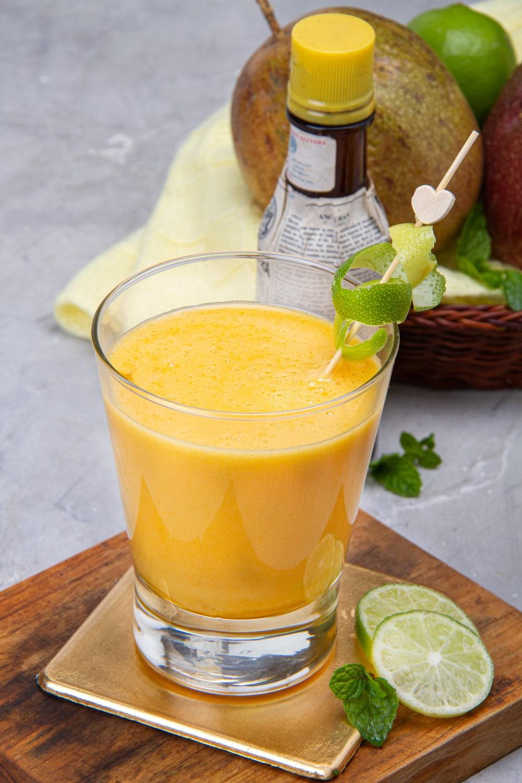 Peruvian Maracuya Sour Glass With Angostura Bitters