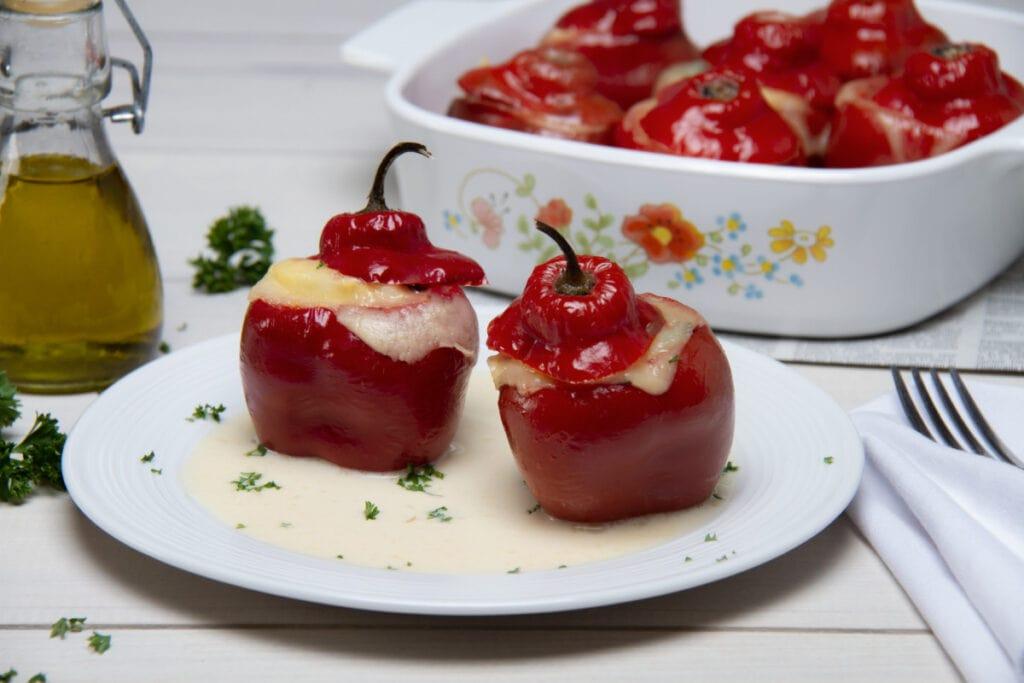 Peruvian Rocoto Relleno Dish On Plate
