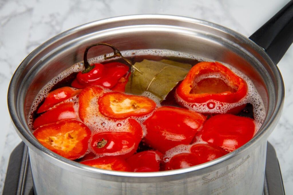 Step 2 Boil In Water And Vinegar