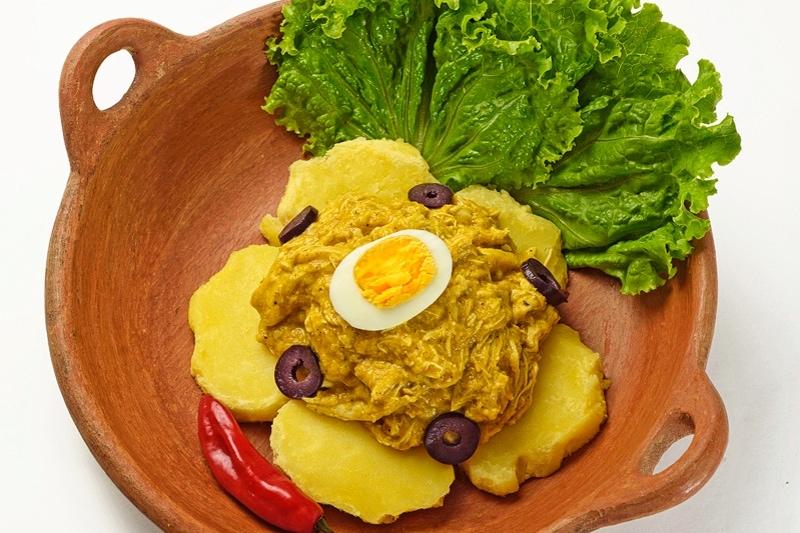 aji de gallina peruvian appetizer