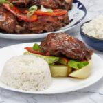 chinese peruvian influenced pollo al sillao with rice