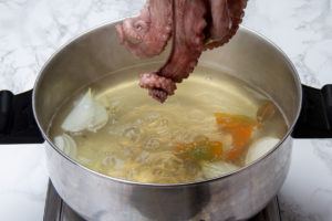 step 4 boil octopus