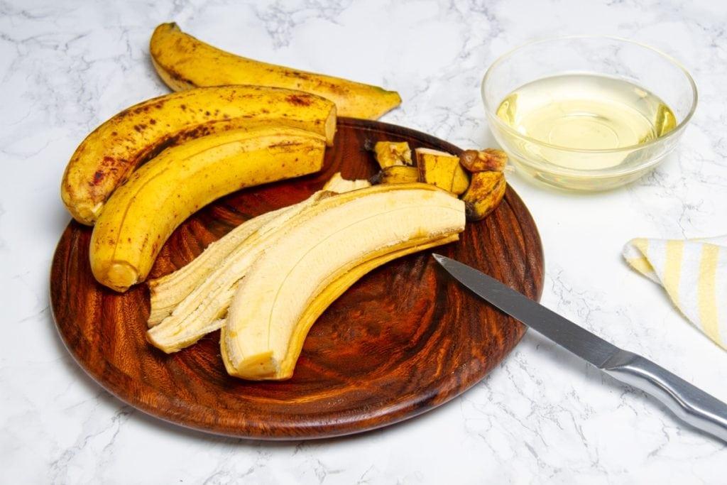 step 1 peel plantains
