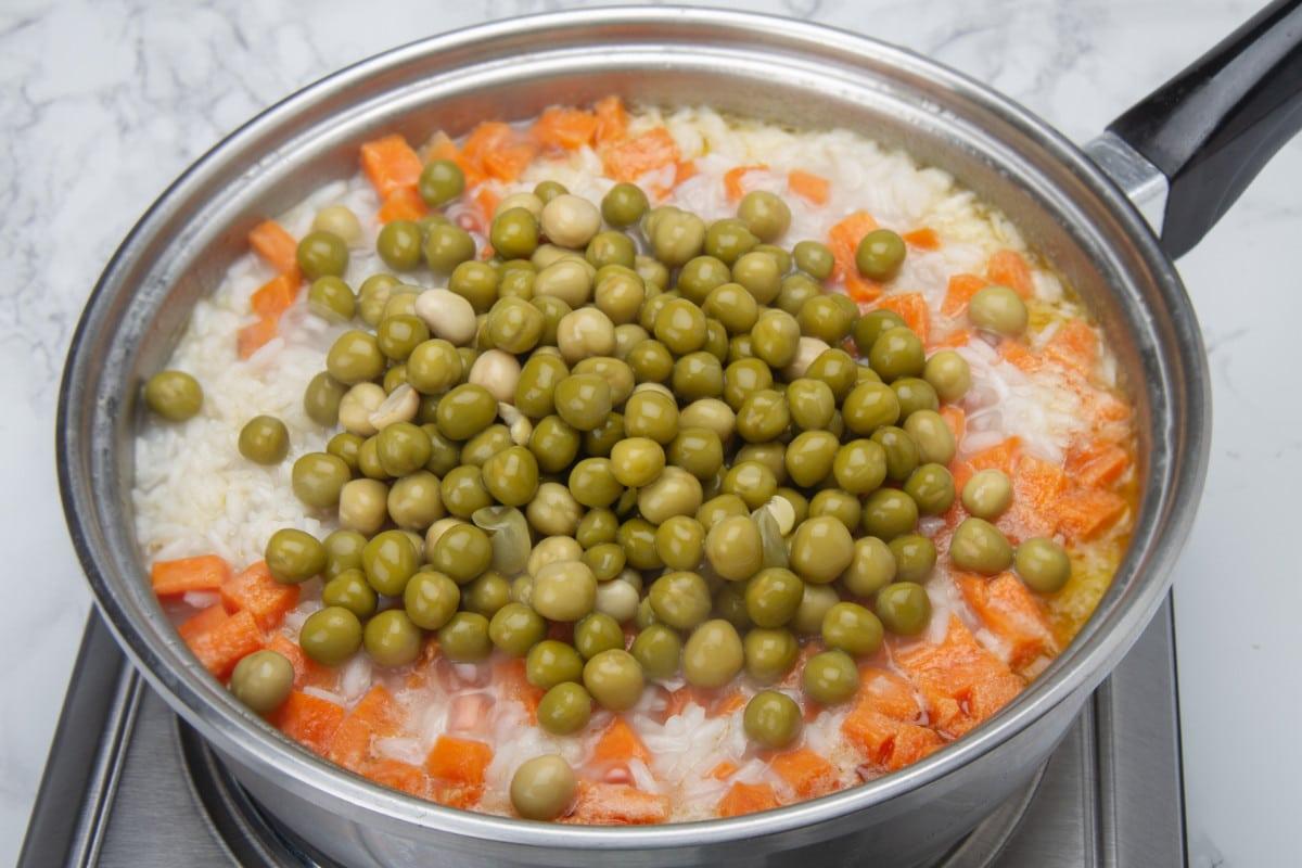 step 3 add peas