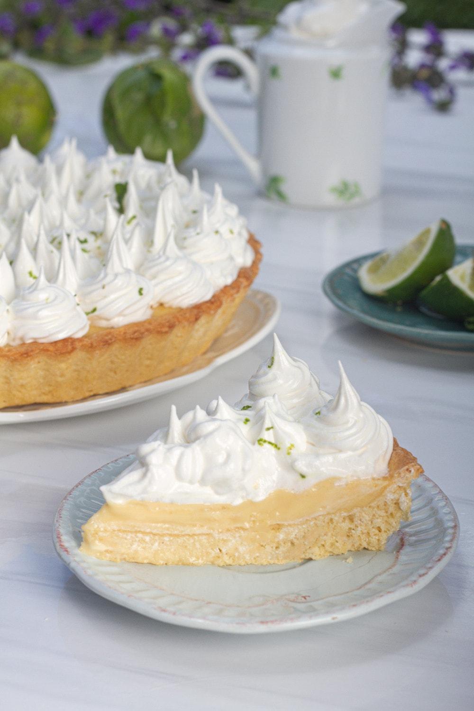 slice of lemon meringue pie from peru