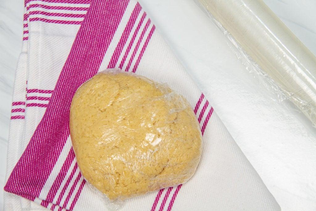 step 4 wrap dough for refrigerator