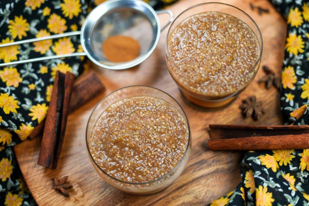 peruvian dessert quinoa con leche pudding