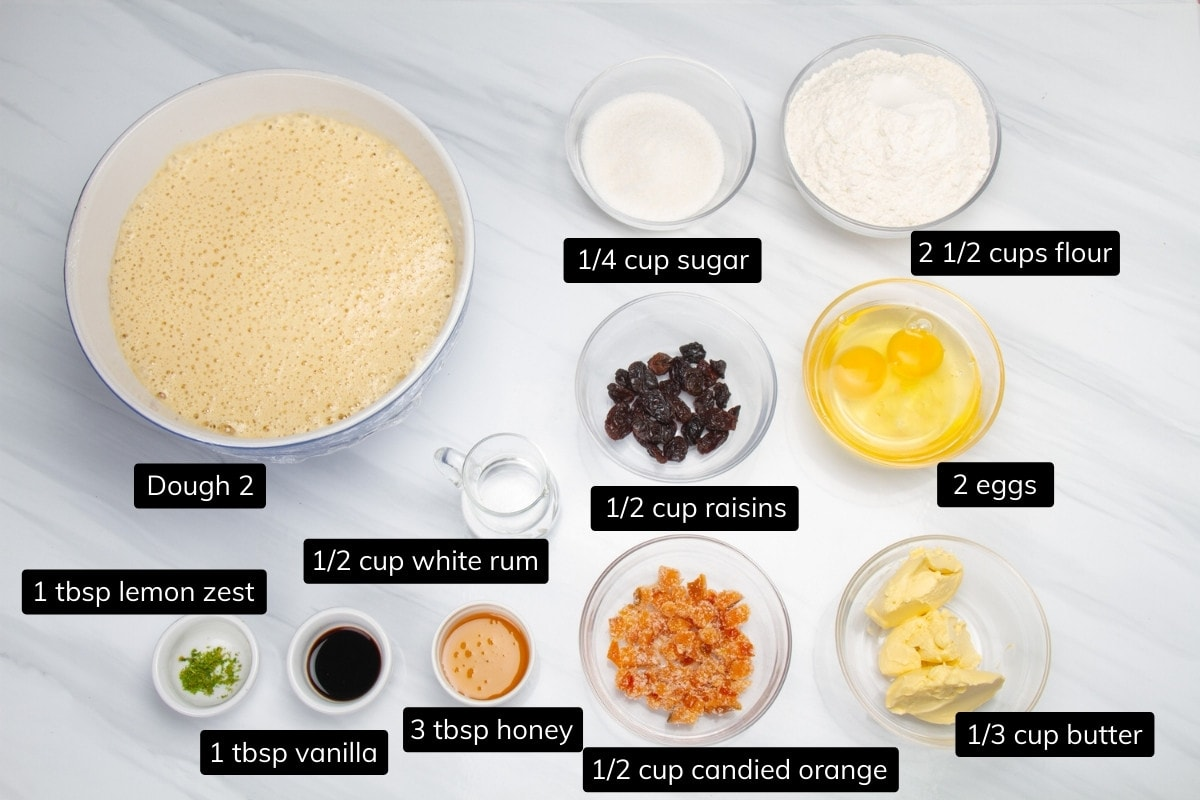 ingredients for dough 3