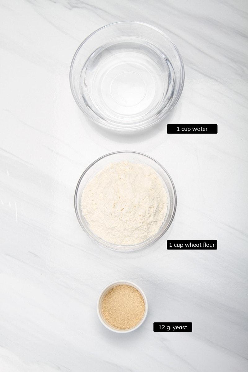 ingredients preferment paneton bread