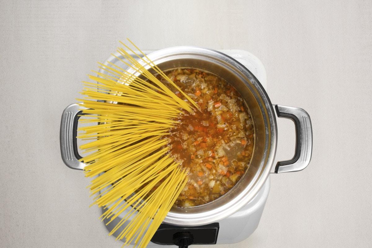 step 7 add noodles