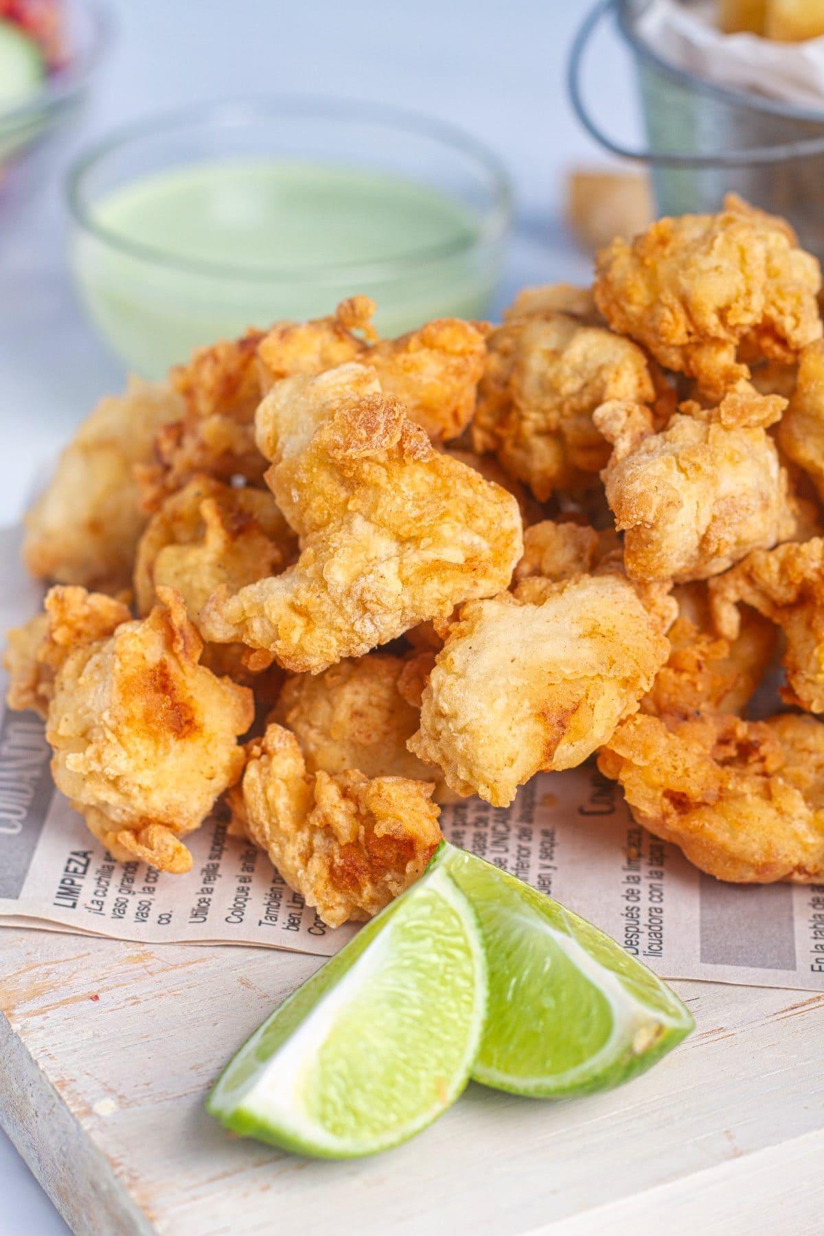 chicharron de pescado peruvian fish fritters