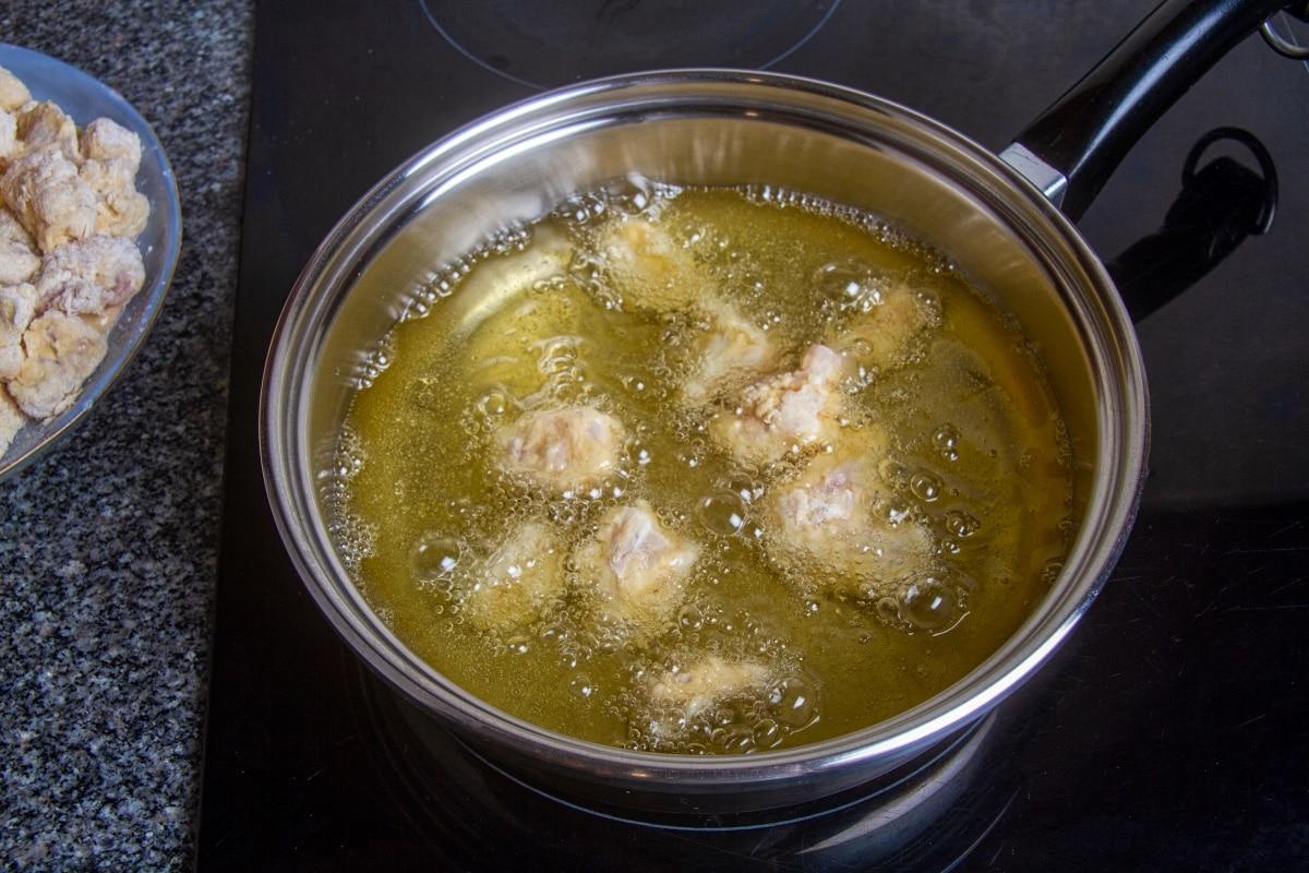 step 7 boil fish in oil
